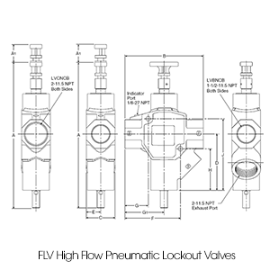 Lockout Valves Dimensions